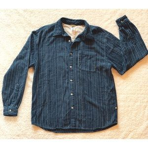 The North Face blue/white flannel- Medium